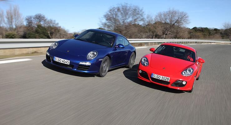 Porsche 911 Carrera PDK vs. Porsche Cayman S PDK