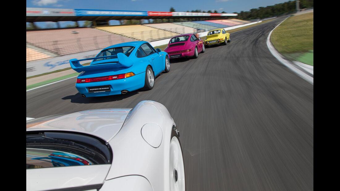 Porsche 911 Carrera RS 2.7, Porsche 964, Porsche 993, Porsche 997 (4.0), Heckansicht