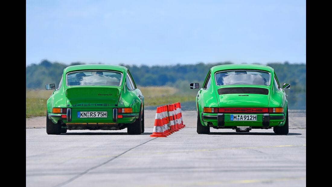 Porsche 911 Carrera RS gegen Memminger 912 Motor Klassik September 2017