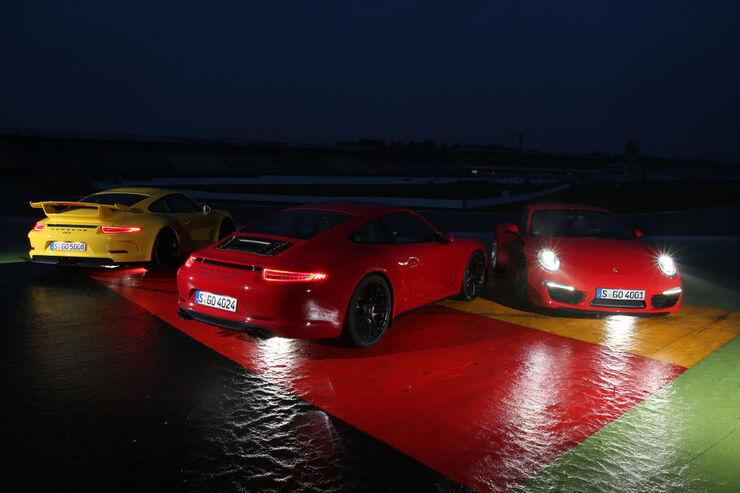 Porsche 911 Carrera S, 911 Carerra GTS, 911 GT3, Lichter
