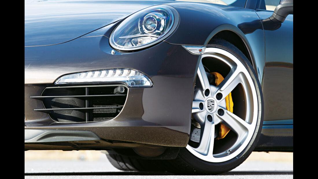 Porsche 911 Carrera S 991, Scheinwerfer, Rad, Felge