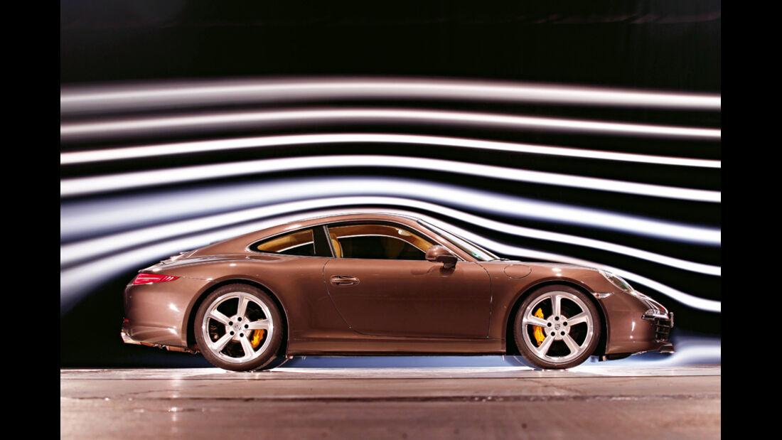 Porsche 911 Carrera S 991, Windkanal
