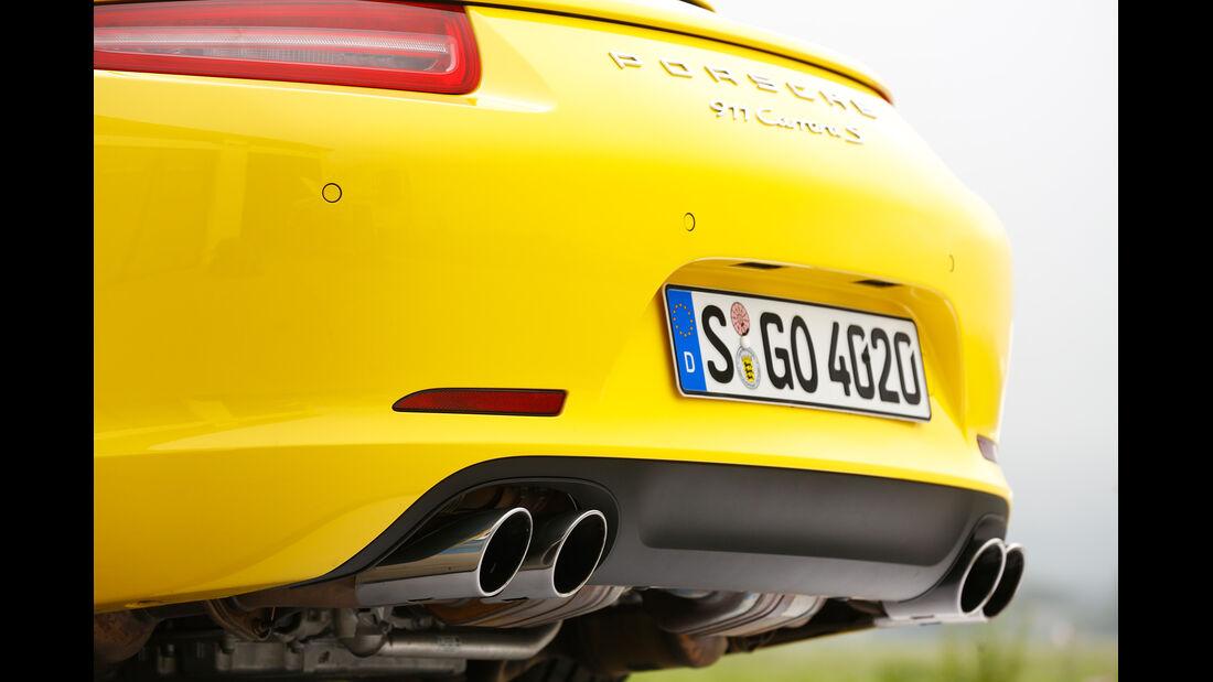 Porsche 911 Carrera S, Auspuff, Endrohre