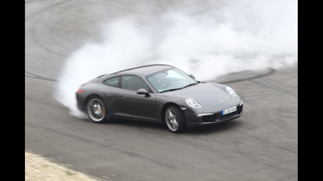 Porsche 911 Carrera S, Bremsen, Burn-out