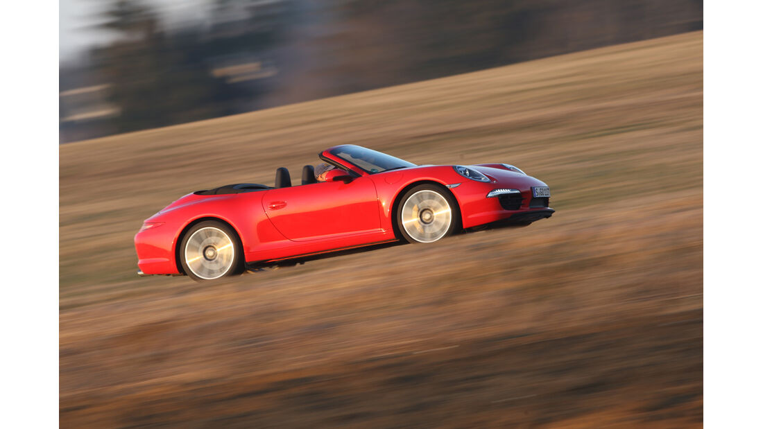 Porsche 911 Carrera S Cabrio, Seitenansicht