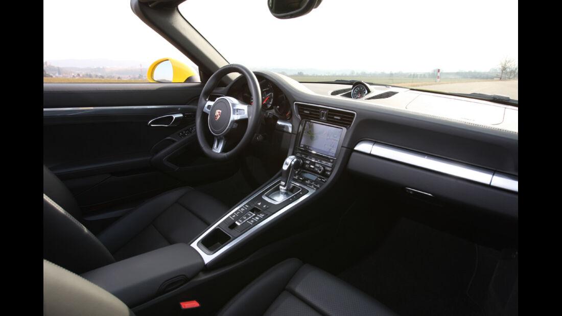 Porsche 911 Carrera S Cabriolet, Cockpit, Innenraum