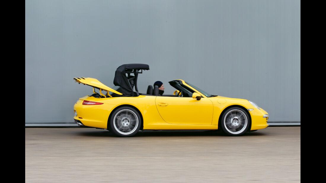 Porsche 911 Carrera S Cabriolet, Dach schließt