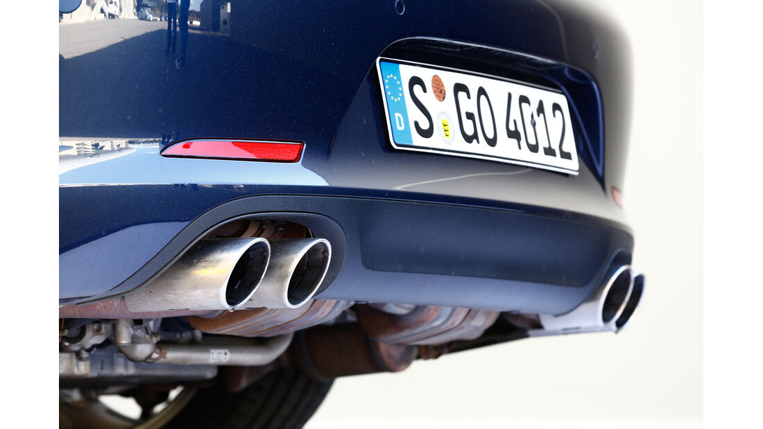 Porsche 911 Carrera S, Endrohre, Auspuff