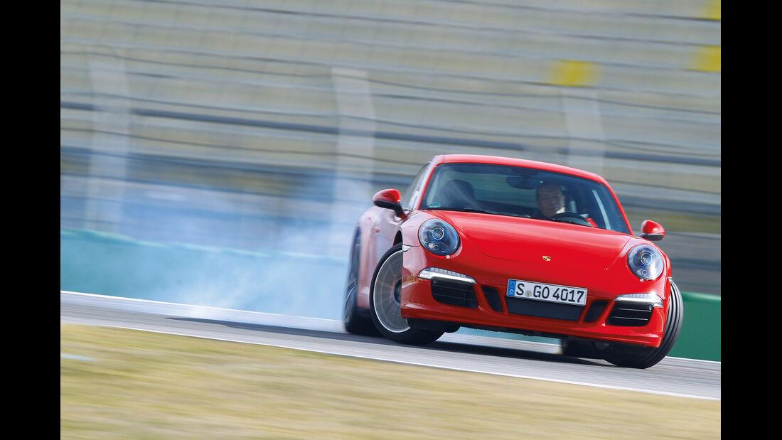 Porsche 911 Carrera S, Frontansicht, Driften