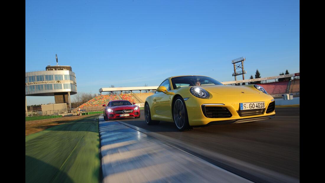 Porsche 911 Carrera S, Mercedes-AMG GT, Impression