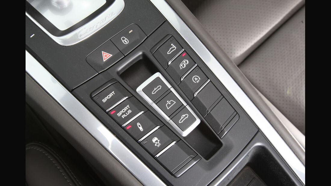 Porsche 911 Carrera S, Mittelkonsole, Bedienelemente