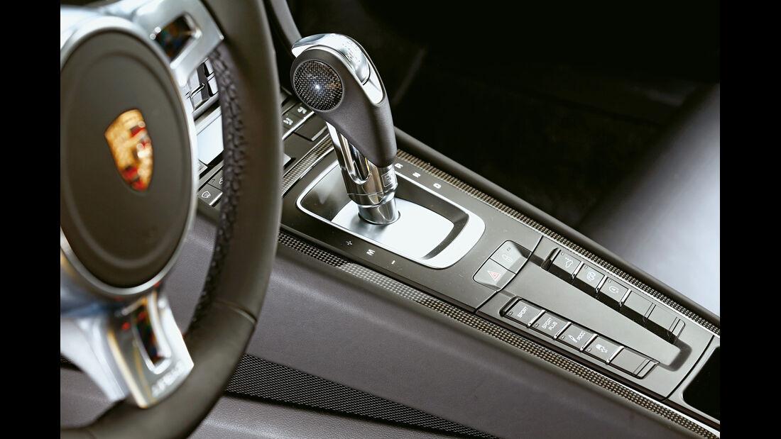 Porsche 911 Carrera S, Mittelkonsole, Schalthebel