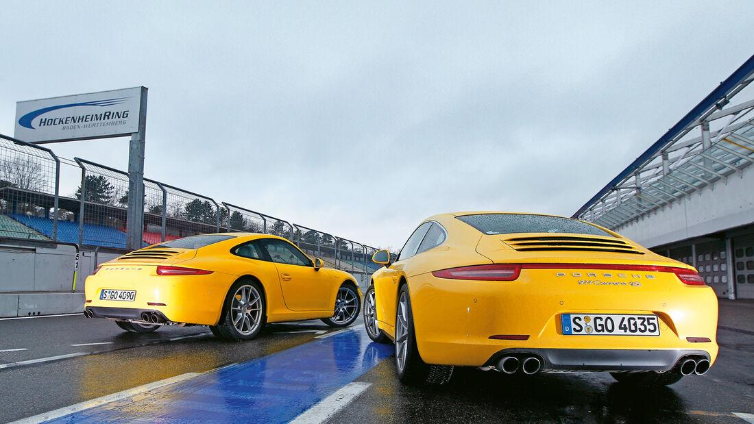Porsche 911 Carrera S, Porsche 911 Carrera 4S, Heckansicht