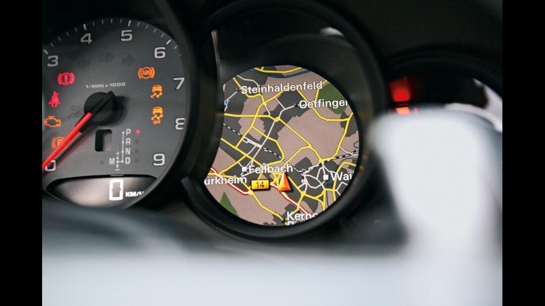 Porsche 911 Carrera S, Rundinstrumente, Display