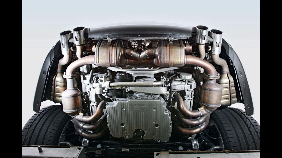 Porsche 911 Carrera S, Unterboden, Auspuffanlage