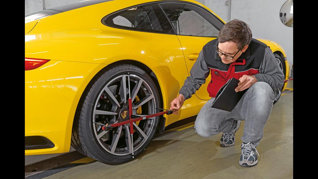 Porsche 911 Carrera S, Vermessung, Messstand