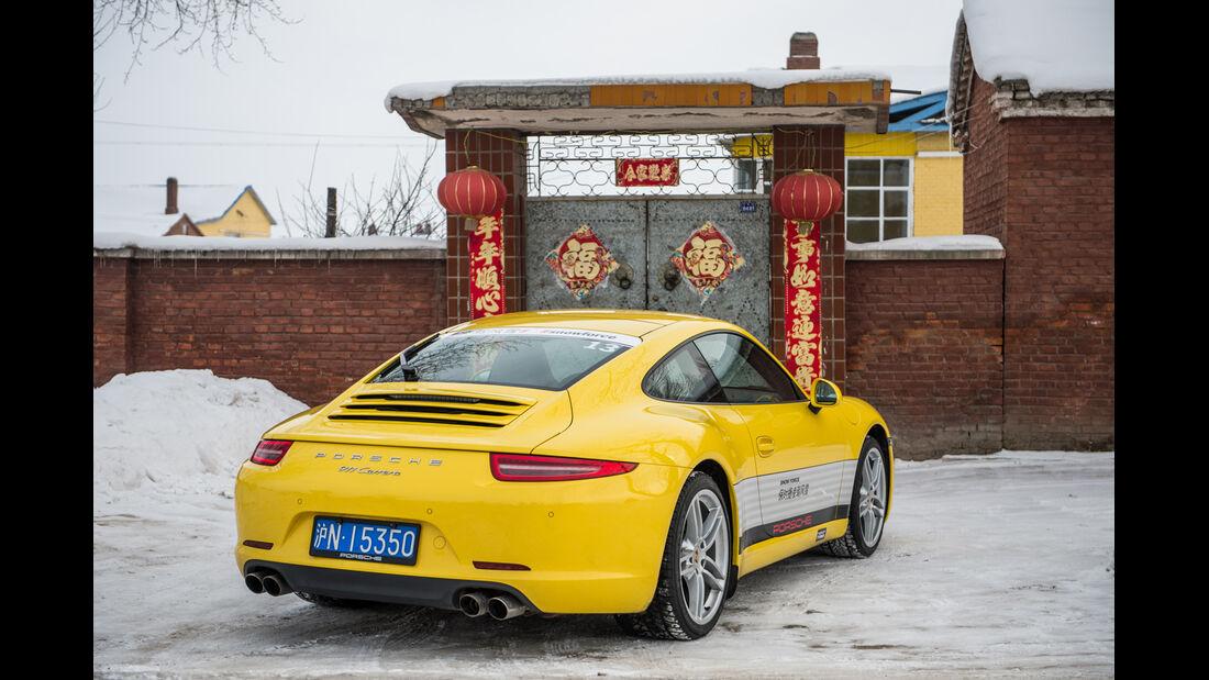 Porsche 911 Carrera, Schriftzeichen, Mongolei