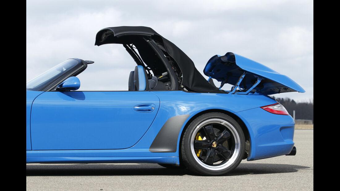 Porsche 911 Carrera Speedster Detail Cabrio öffnen