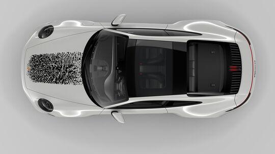 Porsche 911 Direct Printing Exclusive Fingerabdruck