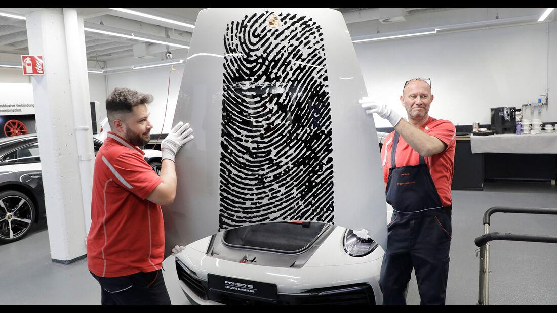 Porsche 911 Fingerabdruck Mark Webber