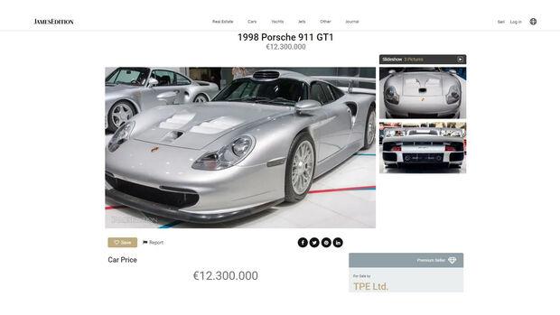 Porsche 911 GT1 Verkauf Millionen teuer
