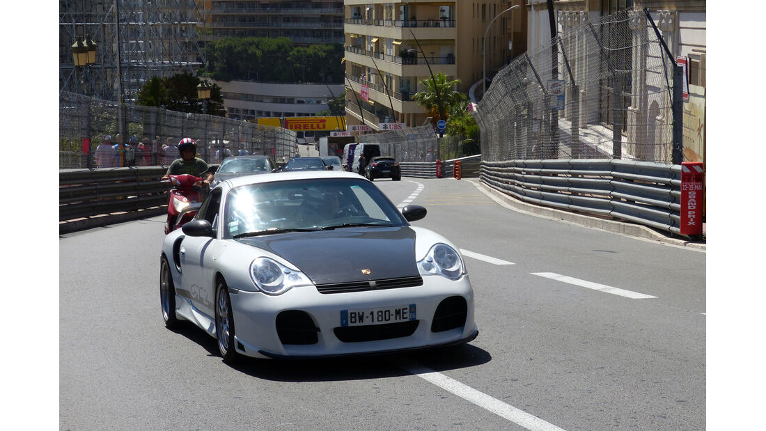 Porsche 911 GT2 - Car Spotting - Formel 1 - GP Monaco - 25. Mai 2014