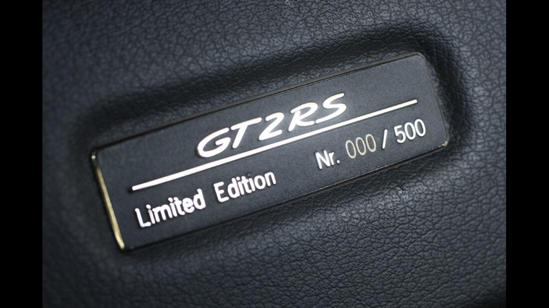 Porsche 911 GT2 RS Editionsplakette