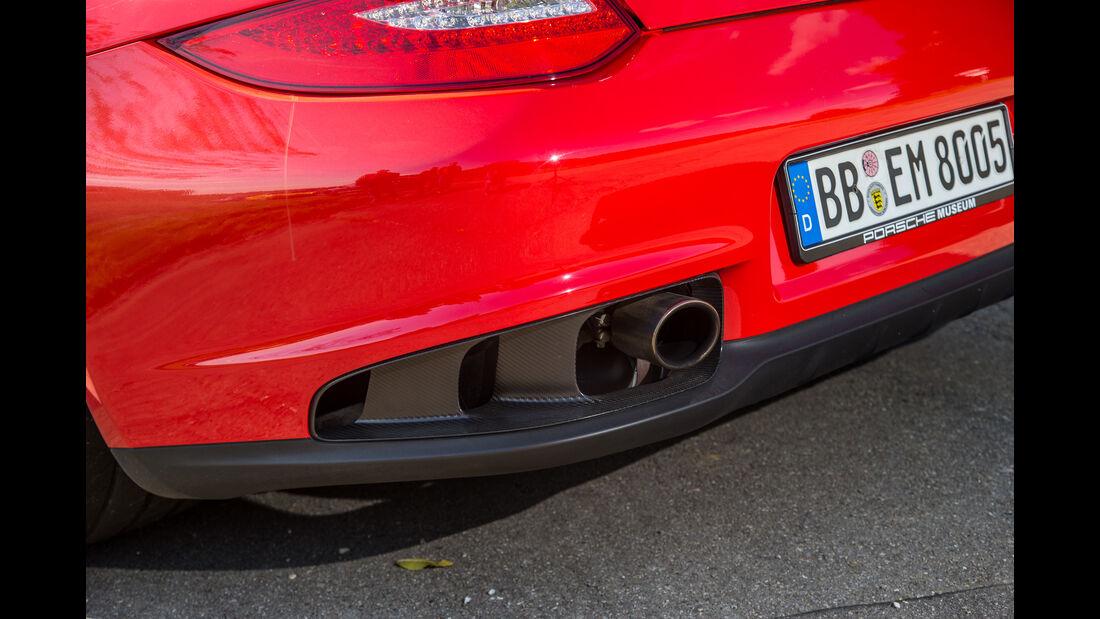 Porsche 911 GT2 RS, Endrohre, Auspuff