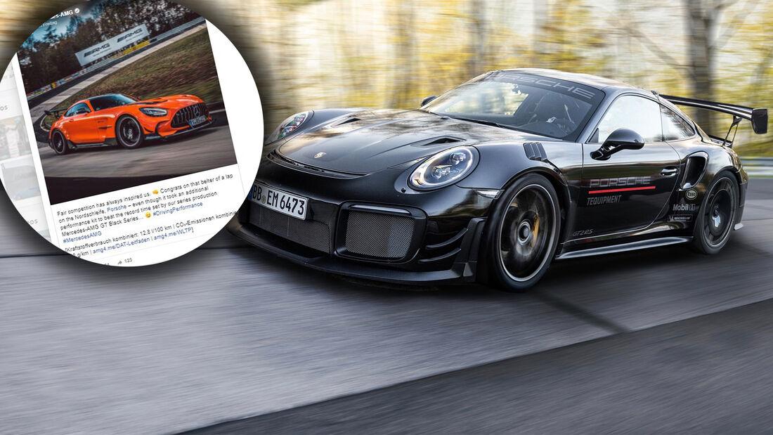 Porsche 911 GT2 RS Manthey Mercedes AMG GT Black Series Rundenrekord Nordschleife