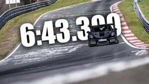 Porsche 911 GT2 RS Manthey Performance Nürburgring Nordschleife Rekord