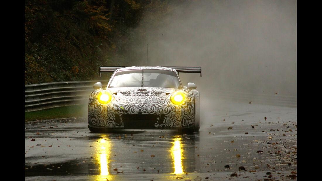 Porsche 911 GT3 - Erlkönig - Testfahrten Nürburgring Nordschleife 11/2014