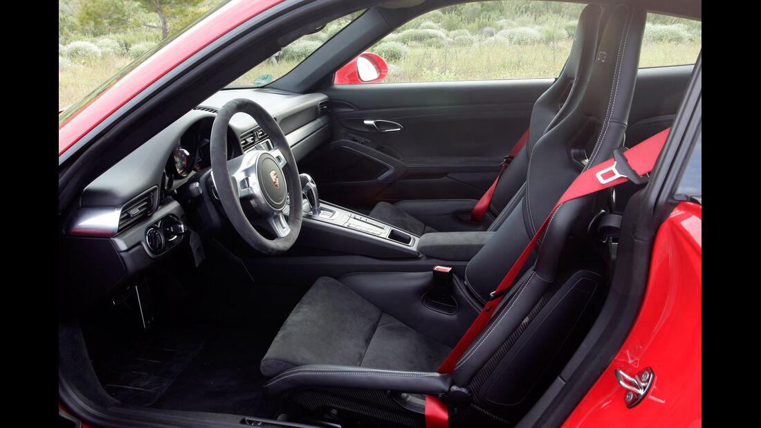 Porsche 911 GT3, Fahrersitz
