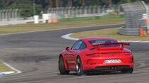 Porsche 911 GT3, Heckansicht, Driften
