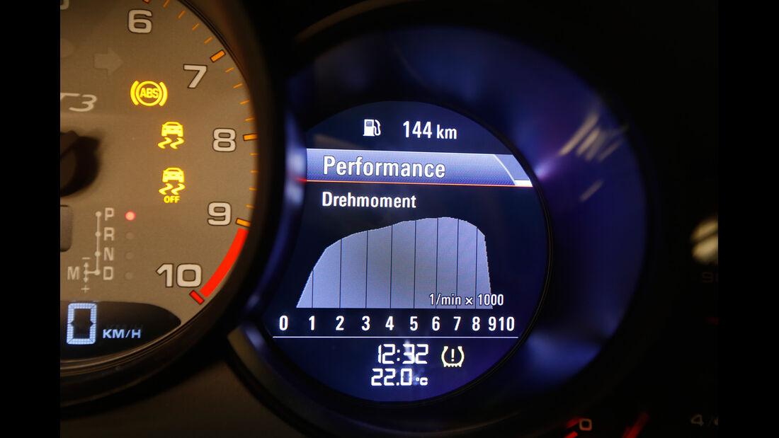 Porsche 911 GT3, Performance-Anzeige