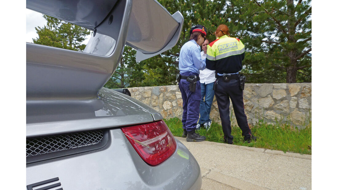 Porsche 911 GT3, Polizeikontrolle