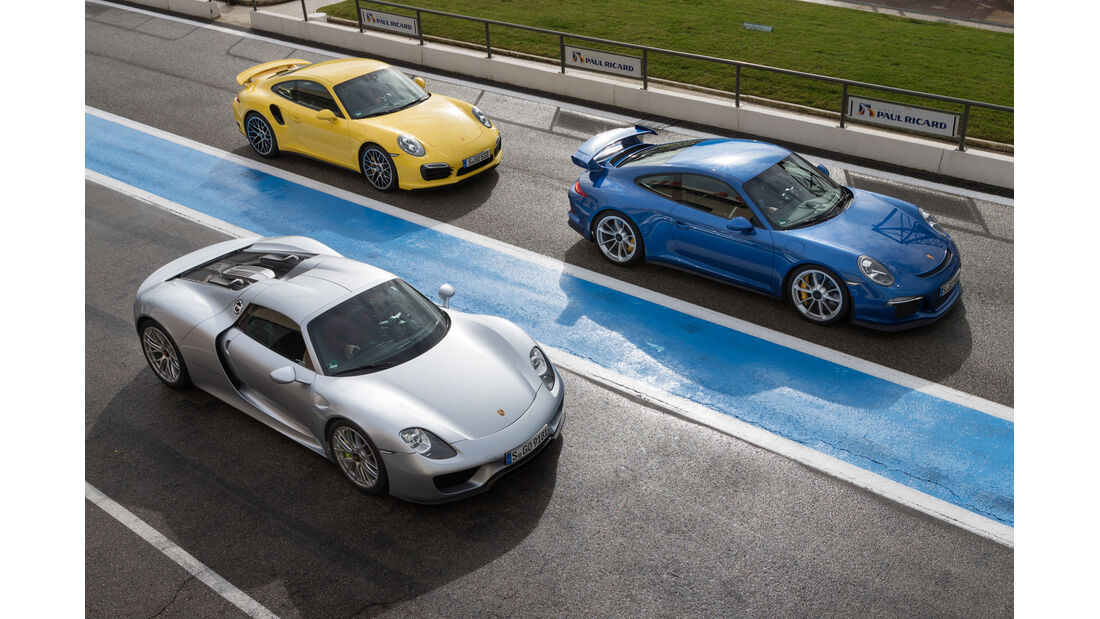 Porsche 911 GT3, Porsche 918 Spyder, Porsche 911 GT3, Le Castellet