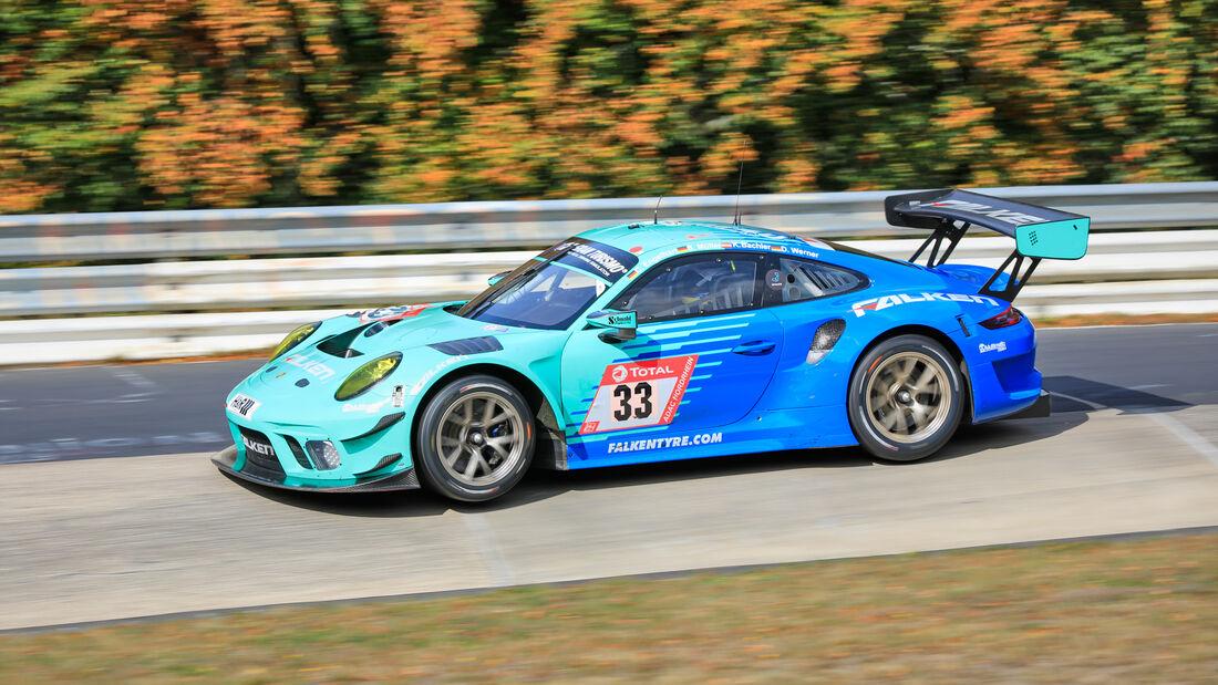 Porsche 911 GT3 R - Falken Motorsports - Startnummer #33 - Klasse: SP9 - 24h-Rennen - Nürburgring - Nordschleife - 24. bis 27. September 2020