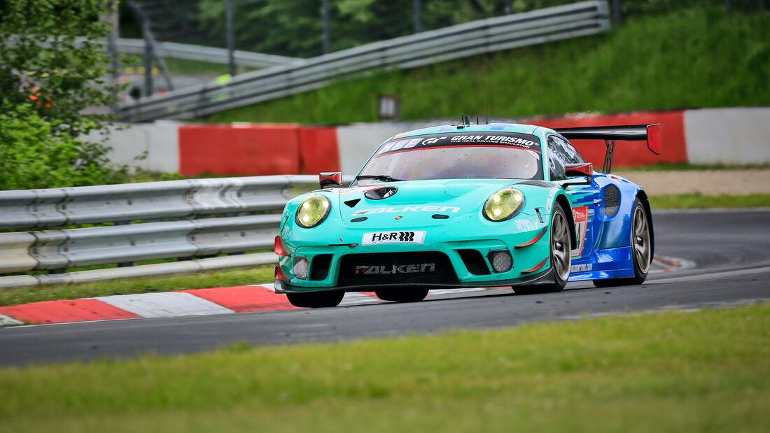 Porsche 911 GT3 R - Falken Motorsports - Startnummer 44 - 24h Rennen Nürburgring - Nürburgring-Nordschleife - 4. Juni 2021
