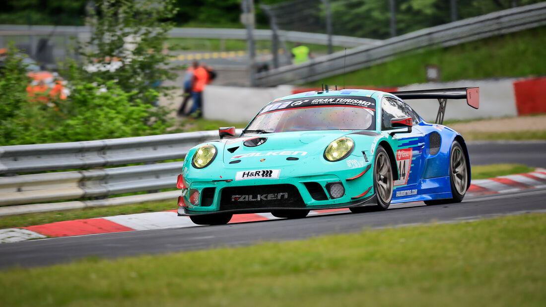 Porsche 911 GT3 R - Falken Motorsports - Startnummer #44 - Klasse: SP 9 (FIA-GT3) - 24h-Rennen - Nürburgring - Nordschleife - 03. - 06. Juni 2021