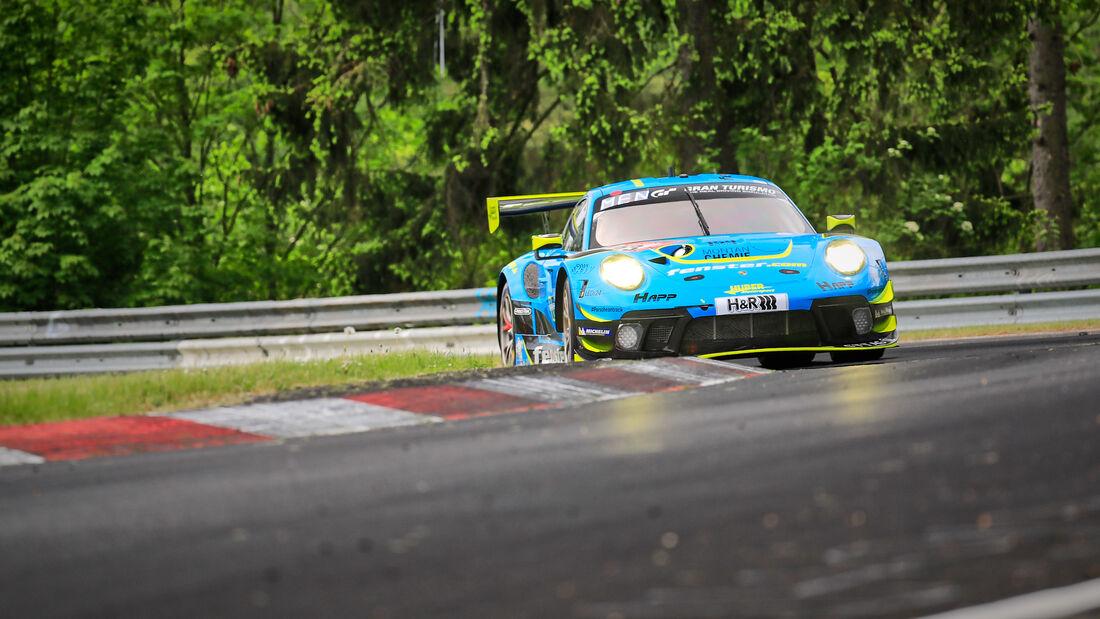 Porsche 911 GT3 R - Huber Motorsport - Startnummer #23 - Klasse: SP 9 (FIA-GT3) PRO-AM - 24h-Rennen - Nürburgring - Nordschleife - 03. - 06. Juni 2021