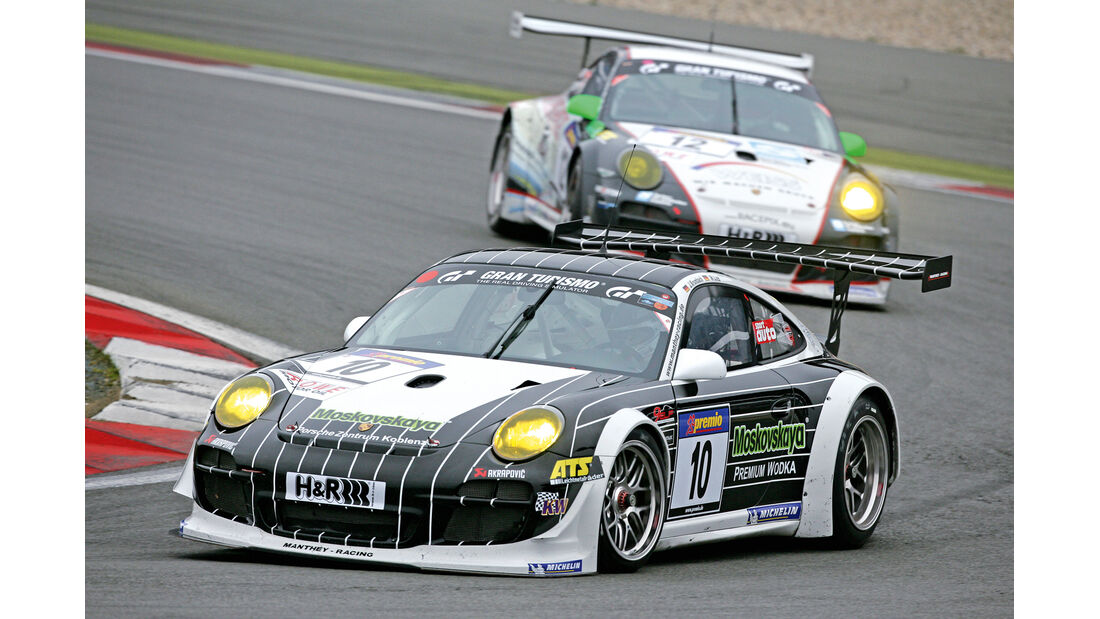 Porsche 911 GT3 R, Seitenansicht
