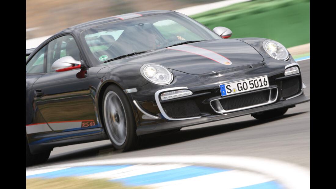 Porsche 911 GT3 RS 4.0, Frontansicht, Kurve, Kurveneinfahrt
