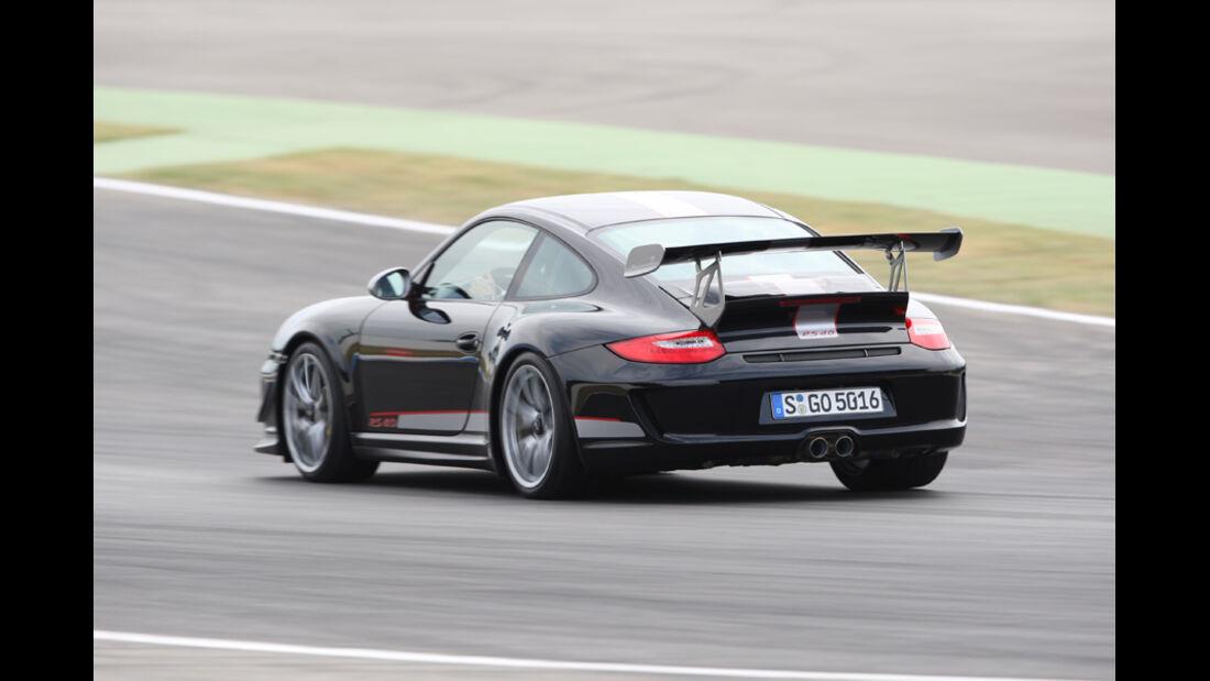Porsche 911 GT3 RS 4.0, Heckansicht, Rückansicht, Rennstrecke