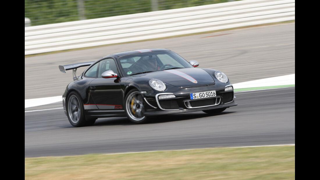 Porsche 911 GT3 RS 4.0, Kurvenfahrt, Seitenansicht