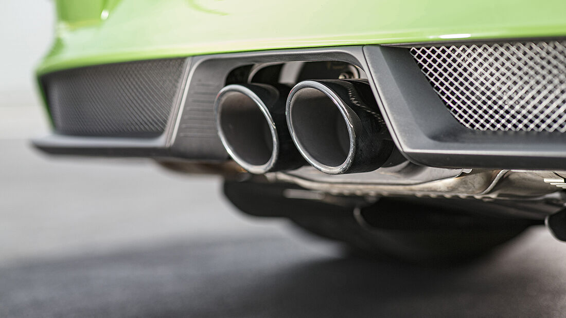 Porsche 911 GT3 RS, Abgasanlage