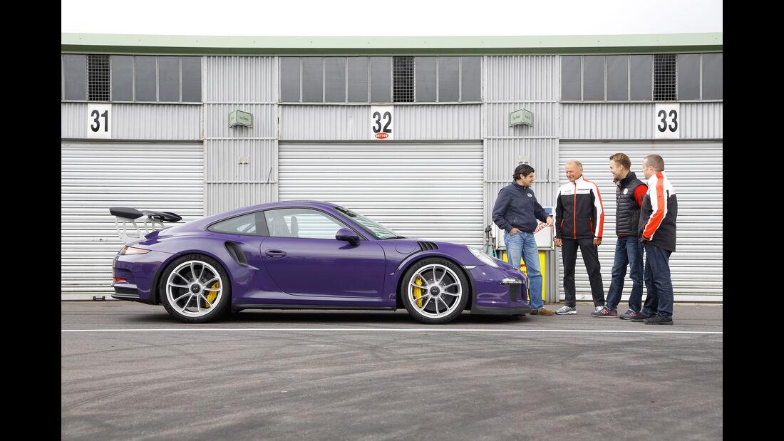 Porsche 911 GT3 RS, Seitenansicht, Testteam