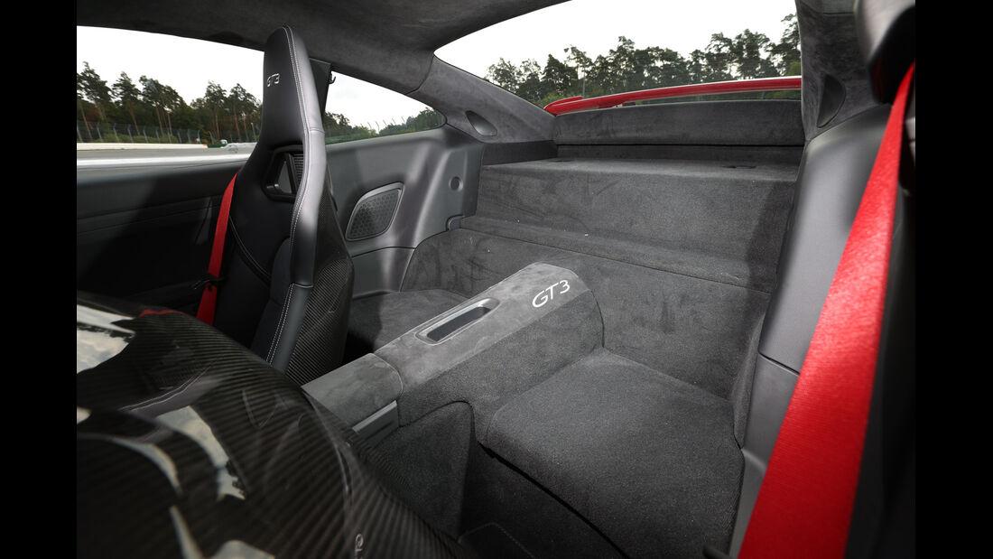 Porsche 911 GT3, Rücksitz
