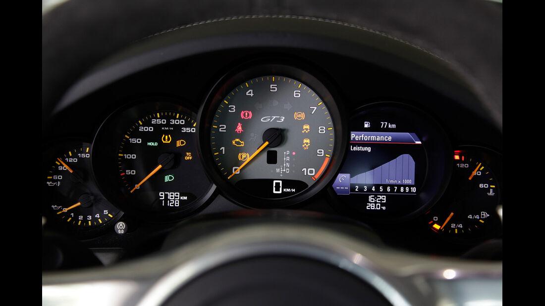 Porsche 911 GT3, Rundinstrumente, Tacho