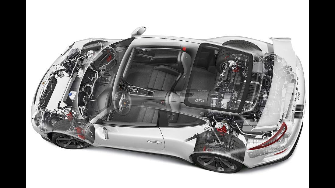 Porsche 911 GT3, Technik