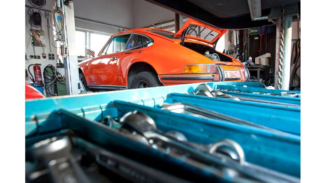 Porsche 911 , Hebebühne, Werkzeug
